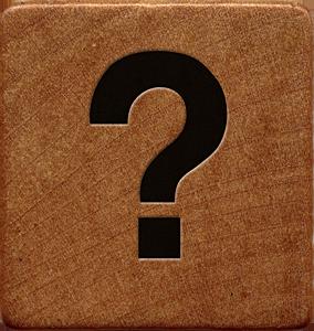 Presentation Alphabets Wooden Game Tile Question Mark