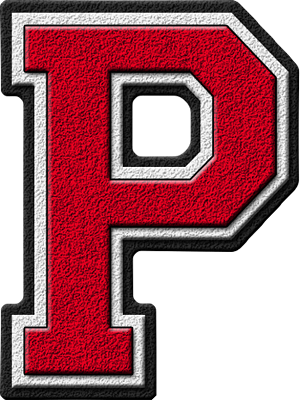Presentation Alphabets Cardinal Varsity Letter P