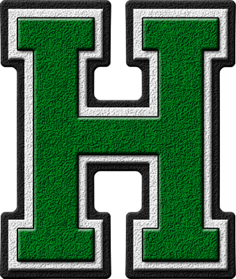... home alphabets varsity letters green letter h site map presentations