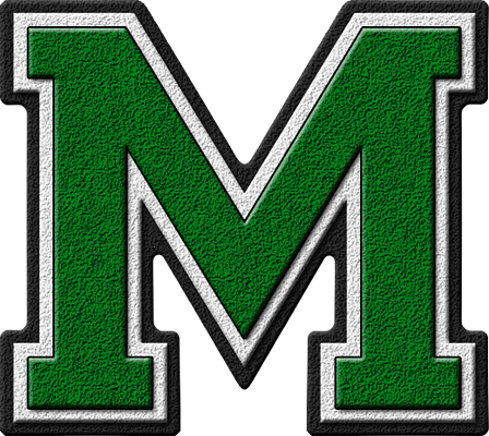 Presentation alphabets green varsity letter m thecheapjerseys Image collections