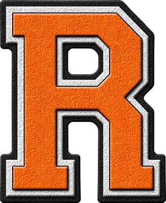 home alphabets varsity letters orange letter r site map presentationsThe Letter R In Orange