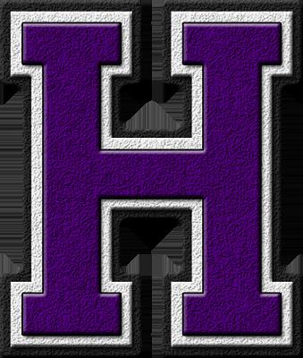 ... home alphabets varsity letters purple letter h site map presentations