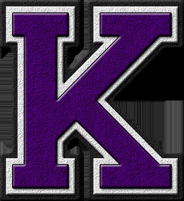 K Alphabet Letter Presentation Alphabets: Purple Varsity Letter K