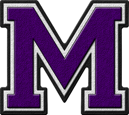 the letter m presentation alphabets purple varsity letter m 25175 | M 400