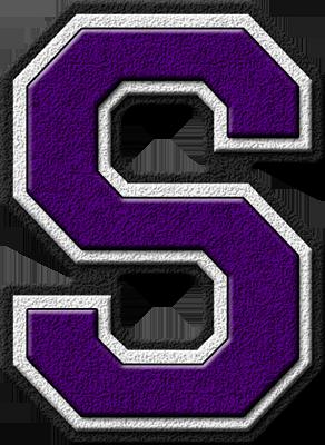 K Alphabet Letter Presentation Alphabets: Purple Varsity Letter S