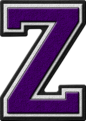 ... home alphabets varsity letters purple letter z site map presentations