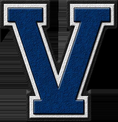 Presentation Alphabet Set Royal Blue Varsity Letter