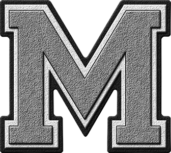 m letter in silver - photo #1