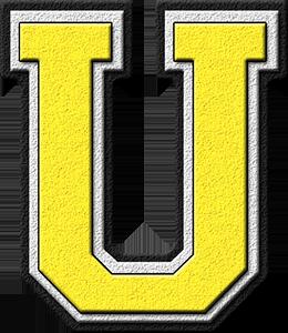 U Alphabet Images etc presentations etc home alphabets varsity letters yellow letter u ...