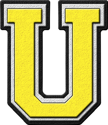 ... home alphabets varsity letters yellow letter u site map presentations