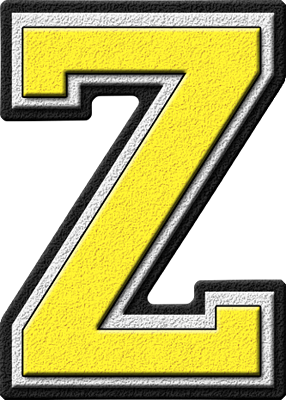 ... home alphabets varsity letters yellow letter z site map presentations