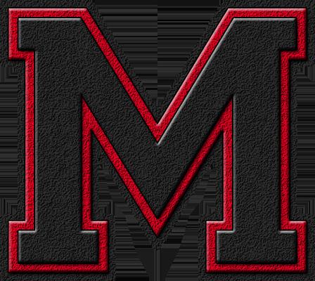 ETC Presentations Home Alphabets Varsity Letters Black Cardinal Red Letter M