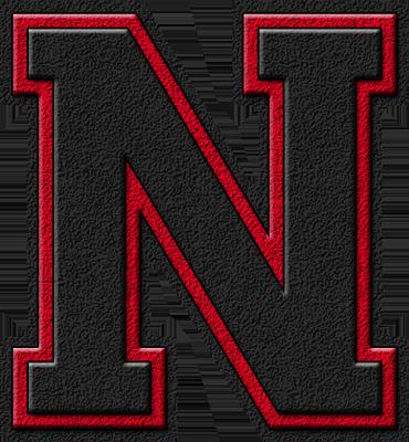 presentation alphabets black cardinal varsity letter n