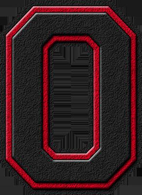 etc home alphabets varsity letters black cardinal red letter
