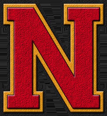 Presentation Alphabets Cardinal Red Amp Gold Varsity Letter N
