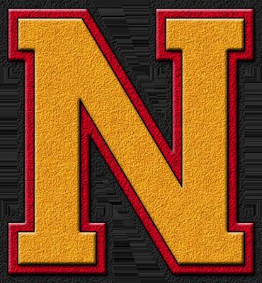 Presentation alphabets gold cardinal red varsity letter n - N letter images ...