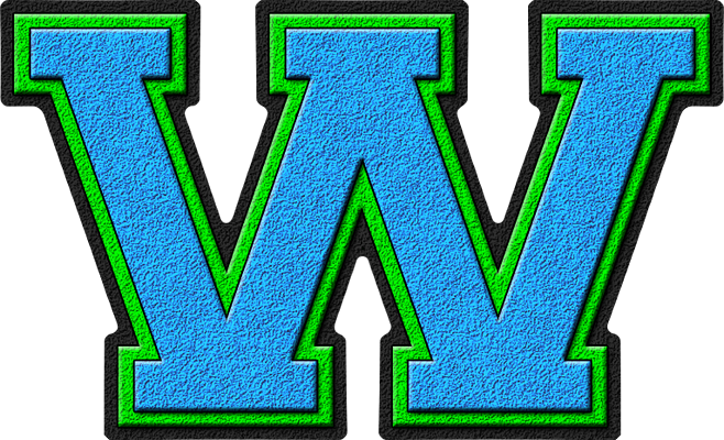 presentation alphabets light blue varsity letter m presentation alphabets light blue amp green varsity 777