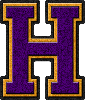 Presentation alphabets purple gold varsity letter h thecheapjerseys Choice Image