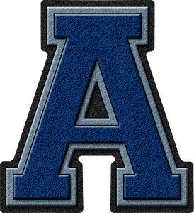 Presentation Alphabets Royal Blue Amp Columbia Blue Varsity