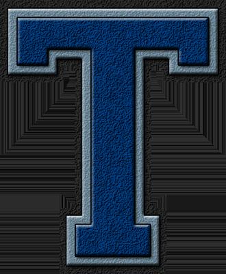 Presentation Alphabets: Royal Blue & Columbia Blue Varsity ...