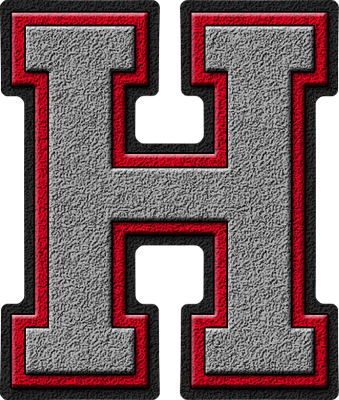 Presentation alphabets silver red varsity letter h thecheapjerseys Images