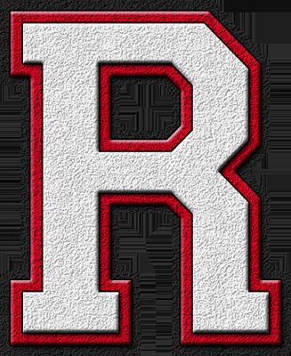 R Alphabet Letter Presentation Alphabets: White & Cardinal Red Varsity Letter R