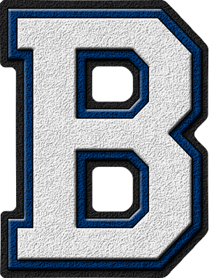 Presentation Alphabets White Amp Royal Blue Varsity Letter B