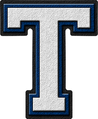 Blue And White Logo  Letters