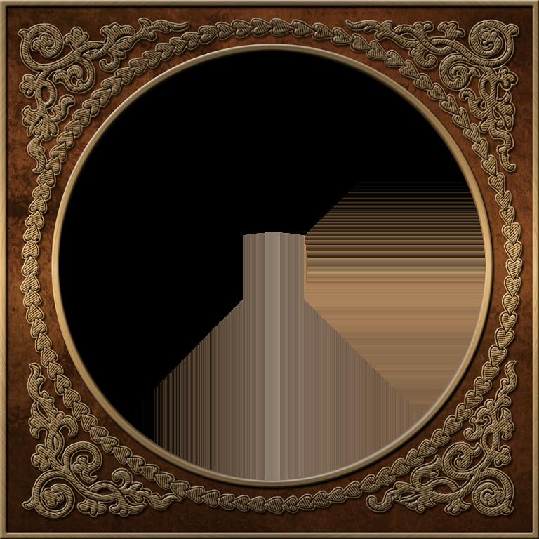 presentation photo frames round style 40