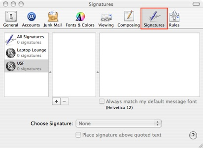 How do i create a signature to appear at the end of my emails e choose mail preferences and click signatures ccuart Choice Image