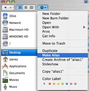 how to delete alias on mac