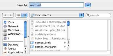 saving documents from mac to pc
