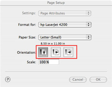 printing a document open the page setup dialog box file page setup then select the option you want portrait or landscape by clicking on one of
