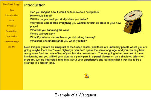 web quest Introduction to the nature and content of a webquest, instructions on how to write a quest, how to find internet resources.