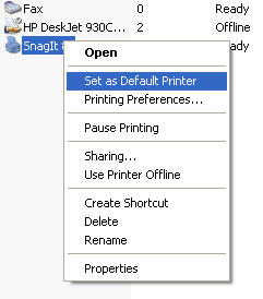 How do I change the default printer? » Hardware » Windows