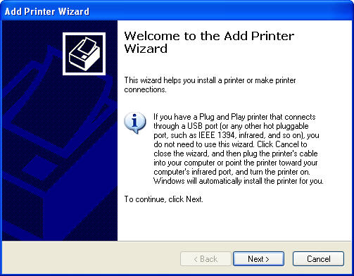 If You Are In Classic View Start The Wizard By Clicking On Add A Printer Option Left Under Tasks