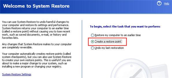 Xp при помощи утилиты восстановление