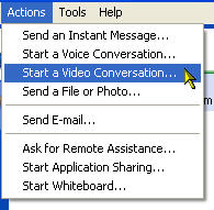 Actions, Start a Video Conversation