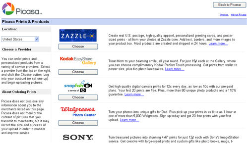 how do i order prints using picasa images windows tech ease
