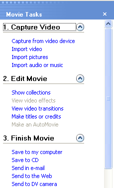 windows movie maker keyboard shortcuts