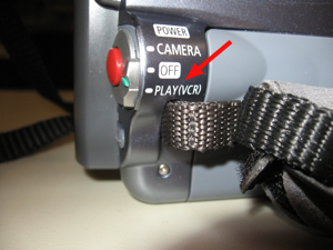 Play/VCR Control on Camcorder