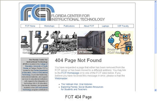 FCIT 404 Page