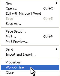 File, Work Offline