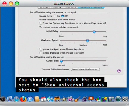 Example of video playing in iTunes with captions showing at bottom of video window.
