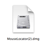 DMG File with Mouse Locator installer.