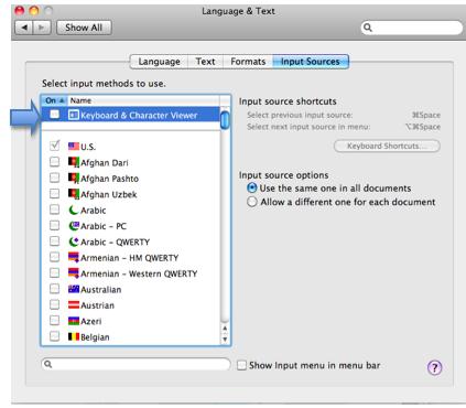 Using the onscreen keyboard in Mac OS X » Motor Skills » 4All » Tech