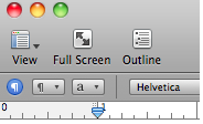 Pages toolbar with Full Screen button.