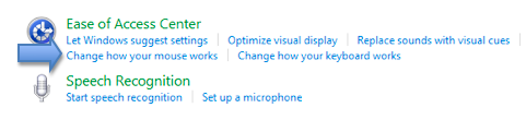 Change how your mouse works option in Ease of Access preferences.