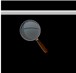 Magnifier icon for accessing options.