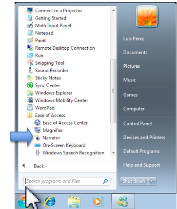 How to Use Narrator in Windows 7 » Vision » 4All » Tech Ease
